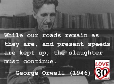 """... while our roads remain as they are, and present speeds are kept up, the slaughter must continue."""
