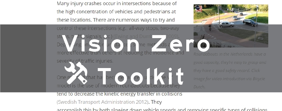 Vision zero: a toolkit for road safety in the modern era
